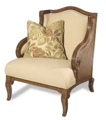 Slaters Furniture Modesto by Hooker Furniture Windward Exposed Wood Wing Chair With Raffia Palm