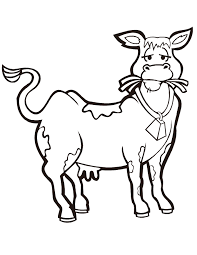 cute cow eating hay coloring page h u0026 m coloring pages