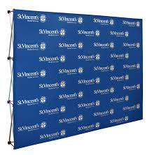 custom photo backdrops custom media press and trade show backdrops new flag