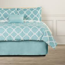 bedroom teal monique paisley bedding with nightstand and area rug