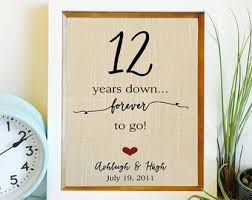 12 year anniversary gift for linen anniversary etsy