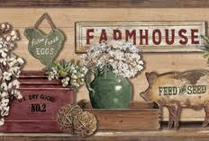 country themes on the farm wallpaper borders