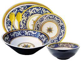 blue málaga melamine dinnerware melamina melamine