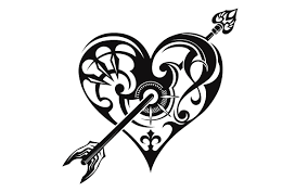 lovely heart arrow and bow tattoos on arm real photo pictures
