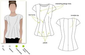 peplum top sewing pattern with basic detail dress patterns and