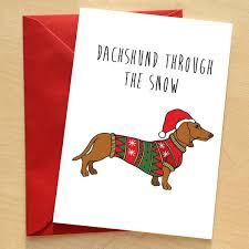 unique gifts dachshund card wraptious