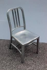 vintage emeco model 1006 brushed aluminum navy chair original mid