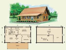 small cabin home plan with open living floor plan rustic cabin