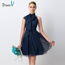 dress blue dressv navy blue chiffon bridesmaid dress 2017 simple knee
