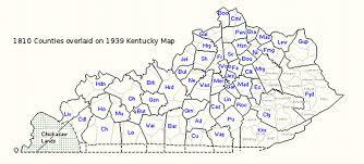 Map Of Kentucky Counties Genealogy2012