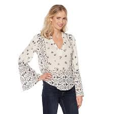peasant blouse lucky brand mixed geo print peasant blouse 8445020 hsn