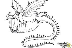 draw thunderdrum dragon train dragon