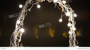 wedding arches with lights beautiful evening wedding arch for the ceremony with lights stock