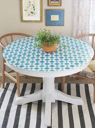 Mosaic Dining Room Table How To Paint A Mosaic Table Top Hgtv