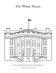 white house coloring page throughout with creativemove me
