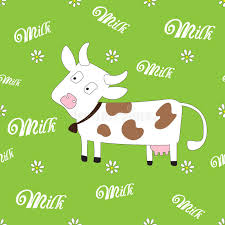 cow wrapping paper seamless cow pattern vector illustration stock vector