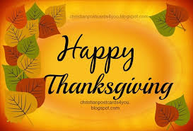happy thanksgiving christian cards for you