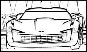 corvette z06 supercar street car coloring pages free cars