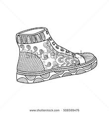 image sneakers sport shoes vector graphics stock vector 328487174