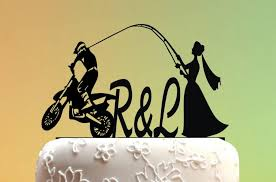 fishing wedding cake toppers fishing cake topper cake topper cake topper motorcycle