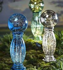 glass gazing balls stands ornaments ebay