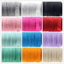 crochet elastic ribbon 5 8 16mm solid ruffle crochet flower fold elastic ribbon