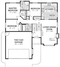 Two Car Garage Floor Plans by Traditional Style House Plan 3 Beds 2 00 Baths 1089 Sq Ft Plan
