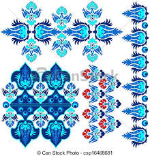 Pattern Ottoman Blue Ottoman Serial Patterns Eight Blue Series Is Designed