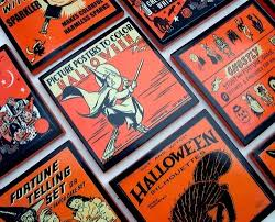 Vintage Halloween Decor Halloween Decor Vintage Halloween Coaster Set Hostess Gift