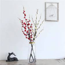 decorative tree branches large artificial flowers cherry blossoms branch flores tree