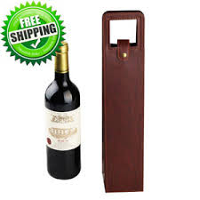 wine gift bag miniway one bottle leather wine gift bag carrier tote holder brown