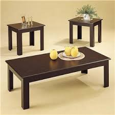 three piece table set coaster occasional table sets 701501 contemporary 3 piece round