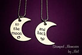 Hand Stamped Necklace Stamped Necklace Set To The Moon And Back Stainless Steel