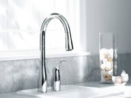 Pulldown Kitchen Faucet Interior Bronze Kohler Kitchen Faucets On White Modern Kitchen