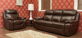 2 Seater Reclining Leather Sofa Carson 3 1 1 Seater Reclining Leather Sofa Suite Tabak Or Wine