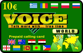 voice international calling card