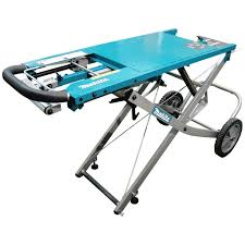 Job Site Table Saw Makita 195083 4 Job Site Rolling Miter Saw Stand W 5 Height Settings