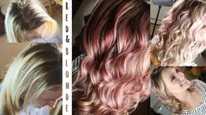 where to place foils in hair red blonde foils hair color tutorial youtube