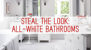 all white bathroom ideas the look all white bathrooms kitchen bath trends