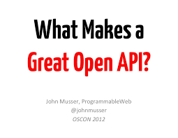 slideshare api what makes a great open api