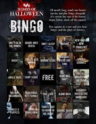 days of halloween horror nights 31 days of halloween news u2013 31 nights of bingo syfy wire