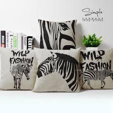 Black Sofa Pillows by Online Get Cheap Zebra Couch Pillows Aliexpress Com Alibaba Group