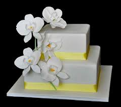 elegant orchid wedding cake designs