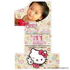 Hello Kitty Invitation Cards Hello Kitty Invitation Card Invitation Templates