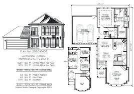 small 2 story floor plans wide lot house plans narrow 2 story floor plans 50 wide lot house