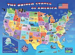 map of canada puzzle buy ravensburger usa state map puzzle 100pc