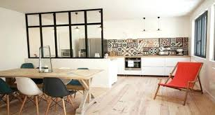 cuisine avec verriere interieur cuisine ouverte daclimitace par une verriare ou un arlot bar cuisine