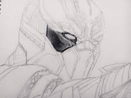 black panther drawing step by step comics amino