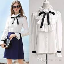 high neck ruffle blouse 2018 european white ruffle stand neck shirt high neck ruffle