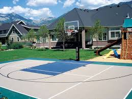 Outdoor Basketball Court Cost Estimate by Great Looking Basketball Courts Home Courts By The Industry